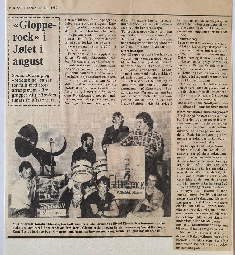 Glopperock 1980 i Jølet i august
