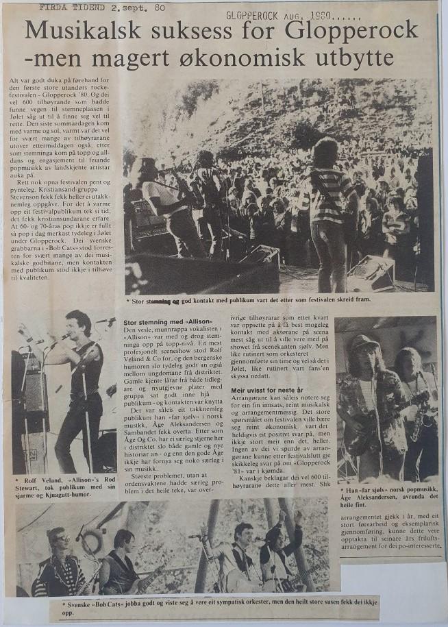 Musikalsk suksess for Glopperock 1980